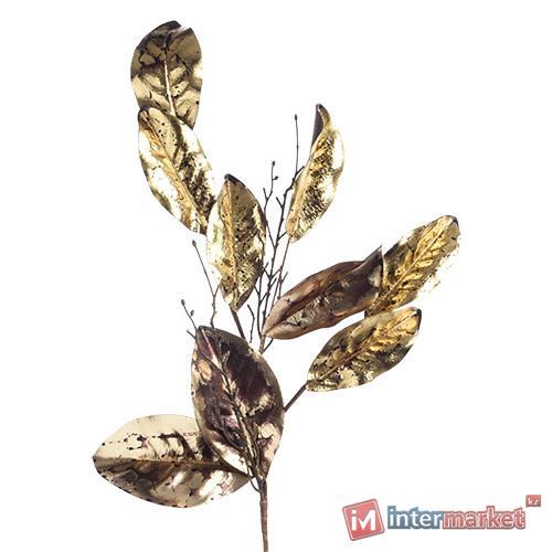 Декорация Веточка с золотыми листьями 26х80см