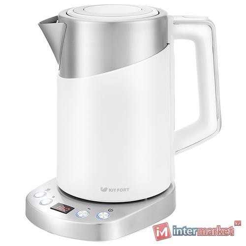 Электрический чайник Kitfort KT-660-1, белый