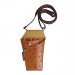 Кобура для инструмента, семь отделений, вешается через плечо и пояс, коричневая, кожзам.