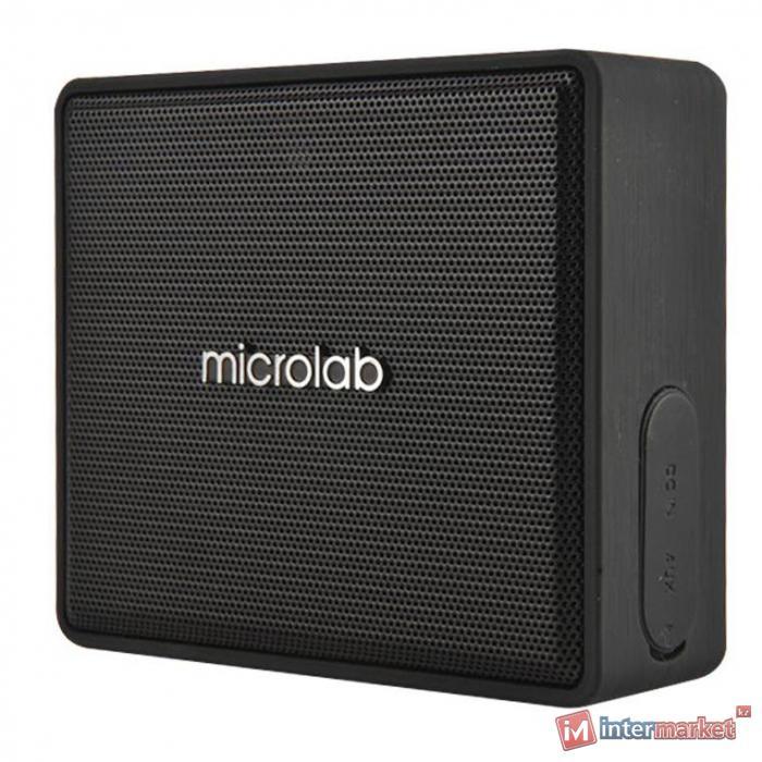 Колонки, MicroLab, D15 Black, Bluetooth 4.0, 4Вт, 75Дб, Литий-ионная батарея,2000 мАч, MicroSD, MicroUSB (для зарядки), Черный