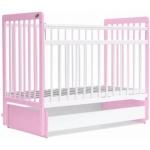 Кровать детская Bambini Евро стиль М 01.10.05 Бело-розовый