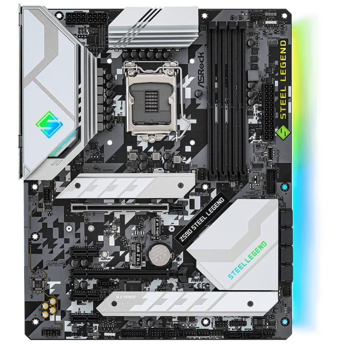 Материнская плата ASRock Z590 STEEL LEGEND LGA1200 4xDDR4 6xSATA RAID 2xUM.2 HDMI DP ATX