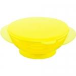 Тарелочка детская на присоске с крышкой Happy baby Feeding Bowl Lemon