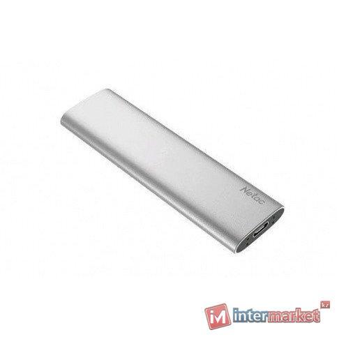 Жесткий диск SSD внешний 250GB Netac ZSLIM/250GB серебро